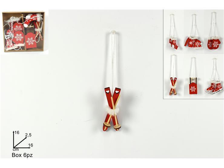 Next - Στολίδια χριστουγεννιάτικα ξύλινα 6 τεμ. - - - - 24437------2 χριστουγεννιάτικα   στολισμός   στολίδια   κρεμαστά στολίδια