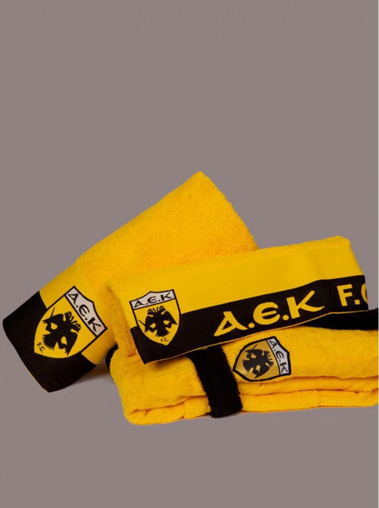 Palamaiki - Πετσέτα Λουτρού FC Α.Ε.Κ. Κίτρινο - Κίτρινο - Λουτρού - 70x140 - 520 αθλητικές ομάδες   πετσέτες