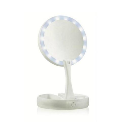 Πτυσσόμενος Διπλός Μεγεθυντικός Καθρέφτης με φωτισμό LED Cenocco CC-9050