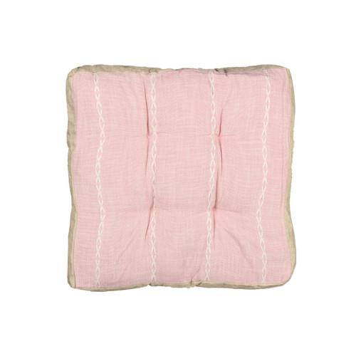 Μαξιλάρι δαπέδου 42Χ42Χ7 εκ. ροζ - TNS 39-950-1474B