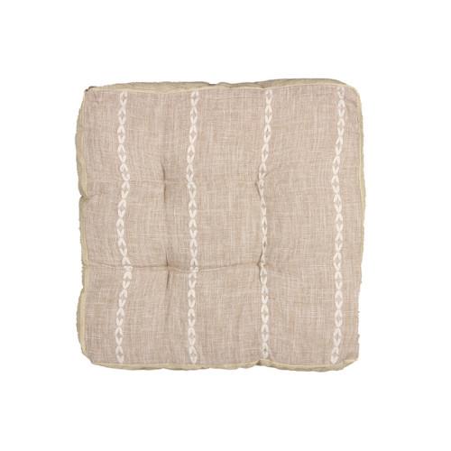 Μαξιλάρι δαπέδου 42Χ42Χ7 εκ. μπεζ καφέ - TNS 39-950-1474C