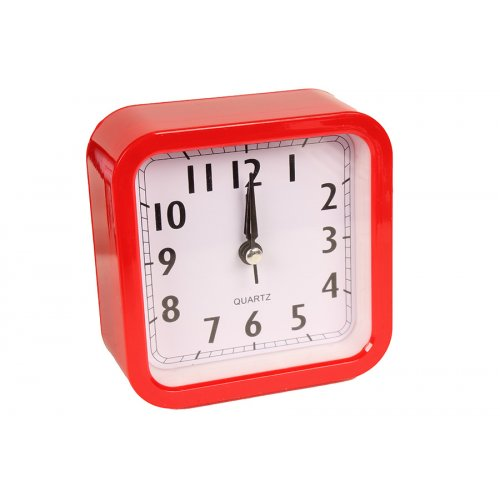 Ρολόι ξυπνητήρι πλαστικό 10Χ4Χ10 εκ. Κόκκινο  7934-3