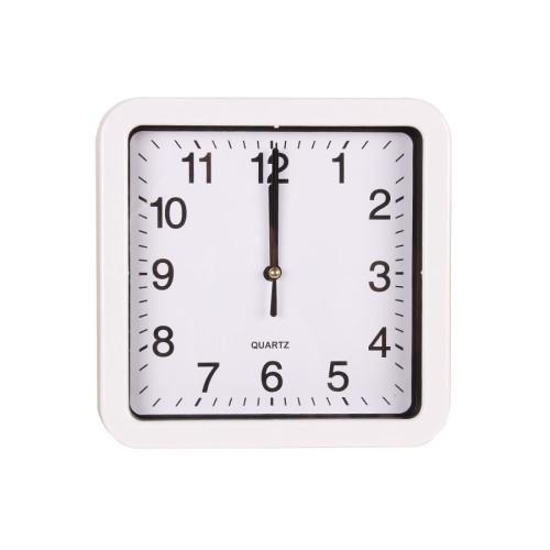 Ρολόι τοίχου πλαστικό 20Χ20 εκ. λευκό  83571-1