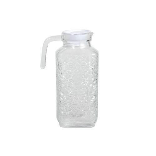 Κανάτα γυάλινη 1700 ml 11Χ8,5Χ26 εκ. με πλαστικό καπάκι  61182