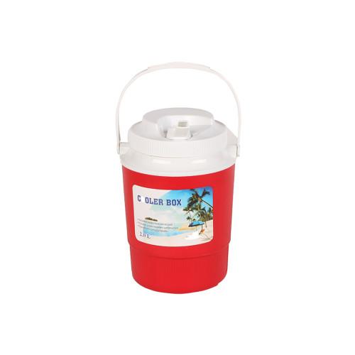 Θερμός πλαστικός 2 λίτρα με βρυσάκι στο καπάκι χρ. κόκκινο