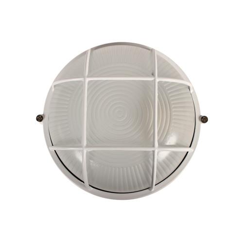 Απλίκα χελώνα εξωτερικού χώρου αλουμινίου με γυαλί Φ17,5Χ8,5 εκ. χρ. λευκό