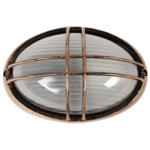 Απλίκα χελώνα εξωτερικού χώρου αλουμινίου με γυαλί 22Χ14Χ9 εκ. χρ. μπρονζέ