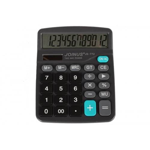 Αριθμομηχανή 12 ψηφίων 17x13,5 εκ. - JOINUS JS772