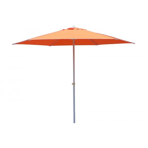 Ομπρέλα μεταλλική Φ225 εκ. με 6 ακτίνες και πανί χρ. πορτοκαλί  110.03