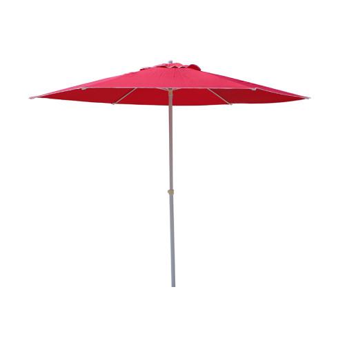 Ομπρέλα μεταλλική Φ225 εκ. με 6 ακτίνες και πανί χρ. μπορντό - κόκκινο  110.02