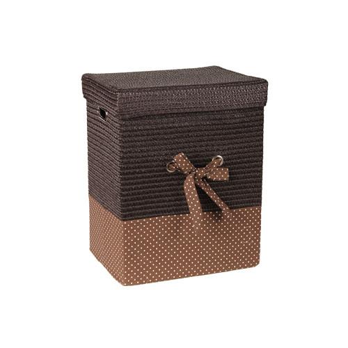 Καλάθι απλύτων με φιόγκο 43Χ33Χ53 εκ. καφέ  36504-3