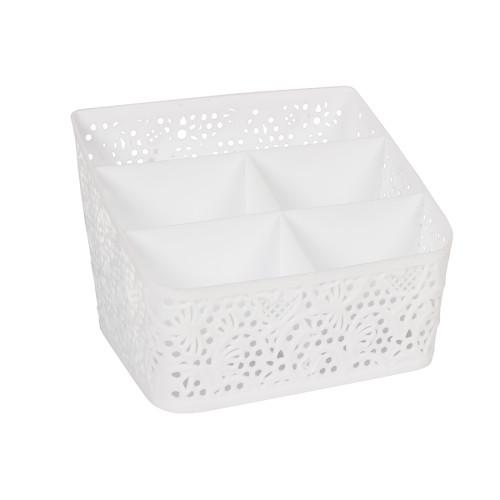 Κουταλοθήκη πλαστική 19,5Χ14Χ14 εκ. λευκή  0758