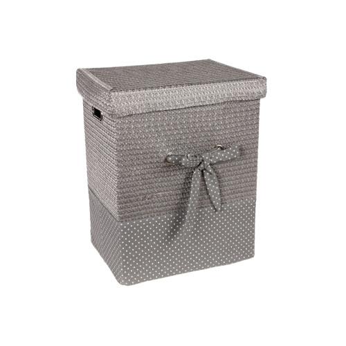Καλάθι απλύτων με φιόγκο 43Χ33Χ53 εκ. Ασημί – KESKOR 36505-3