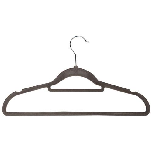 Κρεμάστρα ρούχων 41 εκ. πλαστική βελουτέ γκρι  505202-1