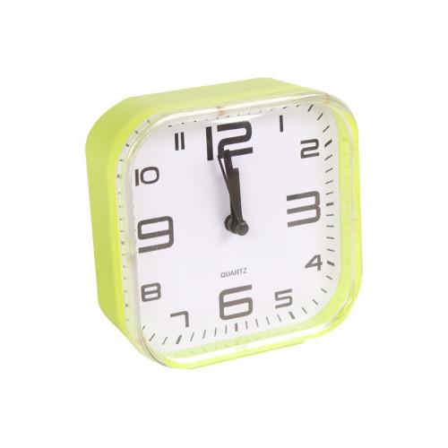 Ρολόι ξυπνητήρι πλαστικό 10,5Χ11 εκ. πράσινο  85801-2