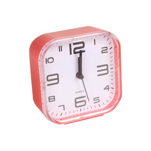 Ρολόι ξυπνητήρι πλαστικό 10,5Χ11 εκ. κόκκινο  85801-3