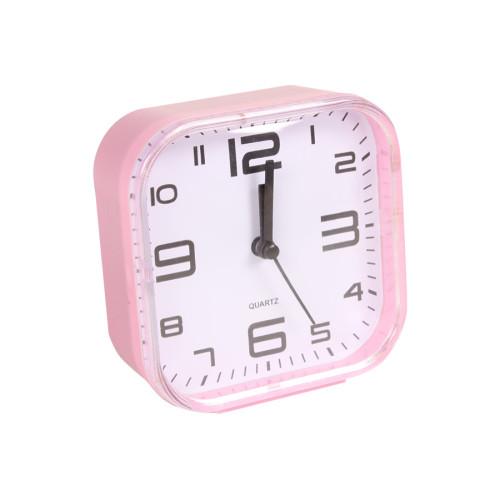 Ρολόι ξυπνητήρι πλαστικό 10,5Χ11 εκ. ροζ  85801-4