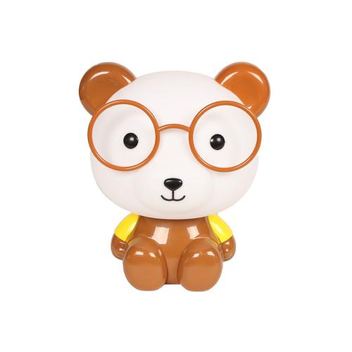 Πορτατίφ παιδικό Ε14 Αρκούδος με γυαλιά καφέ  88499-20