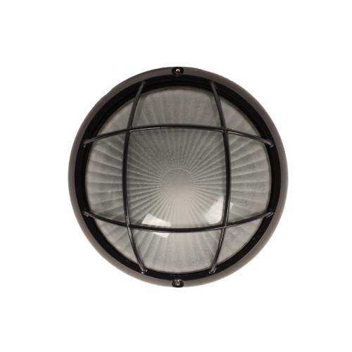 Απλίκα χελώνα εξωτερικού χώρου αλουμινίου με γυαλί Φ19Χ8 εκ. μαύρο 2707BK