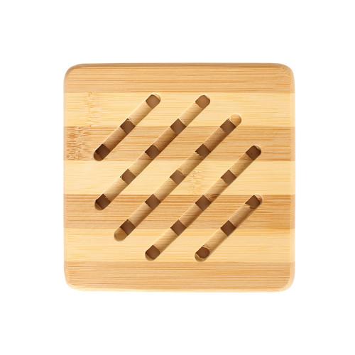 Σουπλά ξύλινο μπαμπού τετράγωνο 15Χ15 εκ.  7451