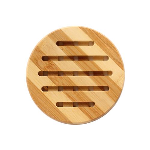Σουπλά ξύλινο μπαμπού στρογγυλό Φ15 εκ.  7452
