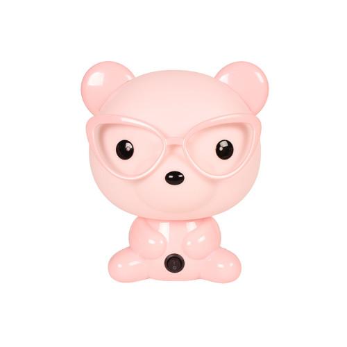 Πορτατίφ παιδικό Ε14 Αρκούδος με γυαλιά ροζ  20127-2