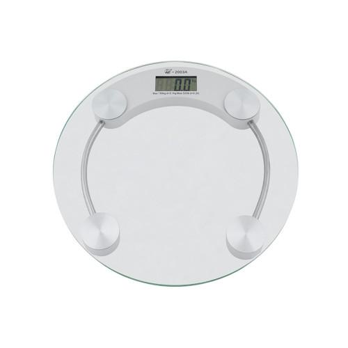 Ζυγαριά μπάνιου ηλεκτρονική στρογγυλή γυάλινη 180 κιλών-2003