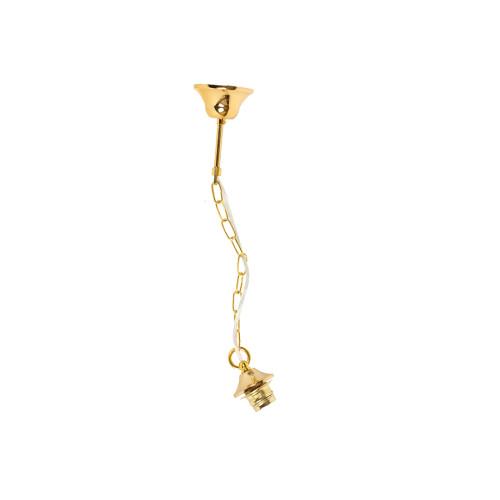 Ανάρτηση μεταλλική με αλυσίδα και μεταλλικό ντουί Ε27 54 εκ. χρ. χρυσό  1004003