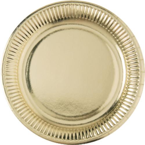Χάρτινα Πιάτα Gold Μεγάλα