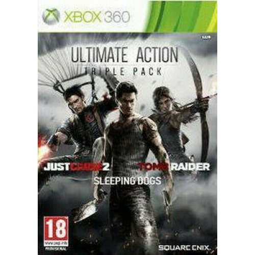 X360 ULTIMATE ACTION PACK TRIPLE PACK (INC. JUST CAUSE 2 + SLEEPING DOGS + TOMB RAIDER) (EU)