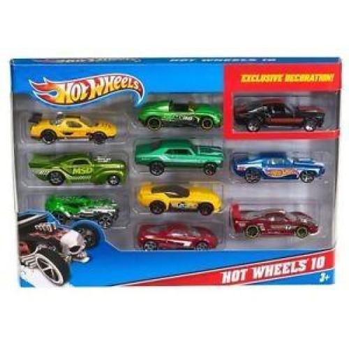 HOT WHEELS - CARS SET OF 10 RANDOM (54886)