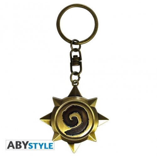 Abysse Hearthstone - Rosace 3D Metal Keychain (ABYKEY200)