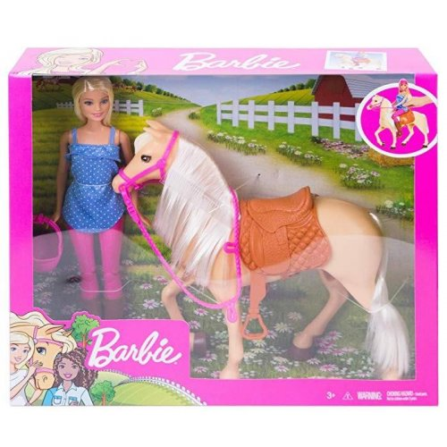 Mattel Barbie & Horse (FXH13)
