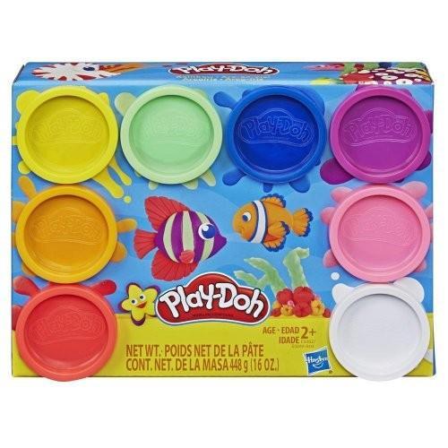 Hasbro Play-Doh Rainbow Non Toxic Set of 8 Colours Cans (E5062EU40)