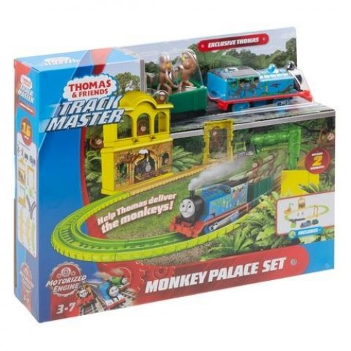 Fisher Price Thomas & Friends Trackmaster: Trains With 2 Wagons - Monkey Palace Set (FXX65)