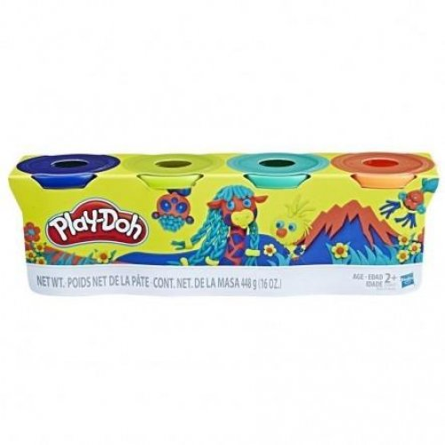 Hasbro Play-Doh Wild Color Tubs (Pack of 4) (E4867)