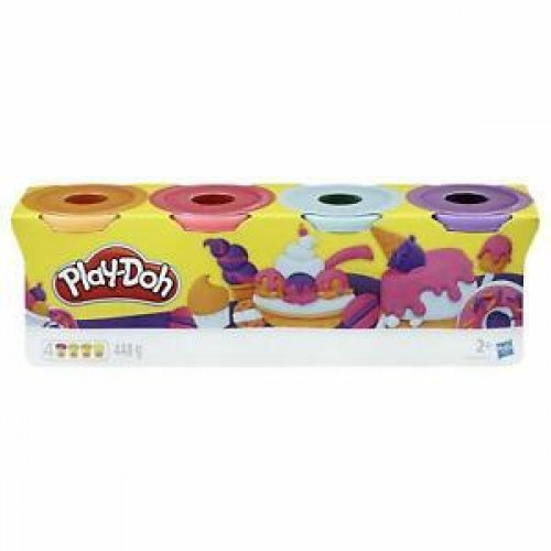 Hasbro Play-Doh Sweet Color Tubs (Pack of 4) (E4869)