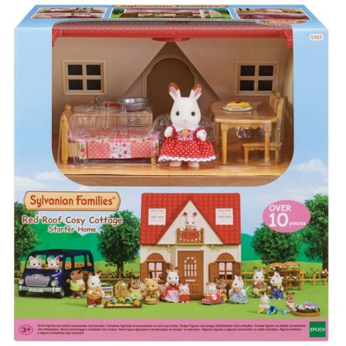 Sylvanian Families - Red Roof Cosy Cottage Starter Home (5303)