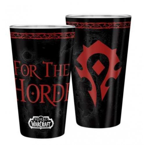 Abysse World Of Warcraft - Horde 400ml Large Glass (ABYVER154)