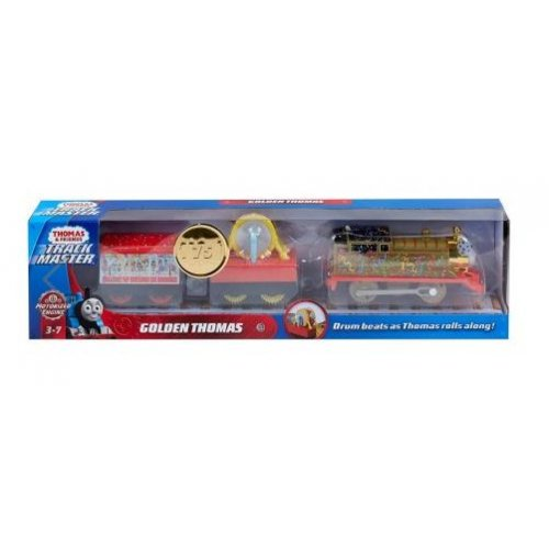Fisher Price Thomas & Friends Trackmaster: Trains With 2 Wagons - Golden Thomas (GHK79)