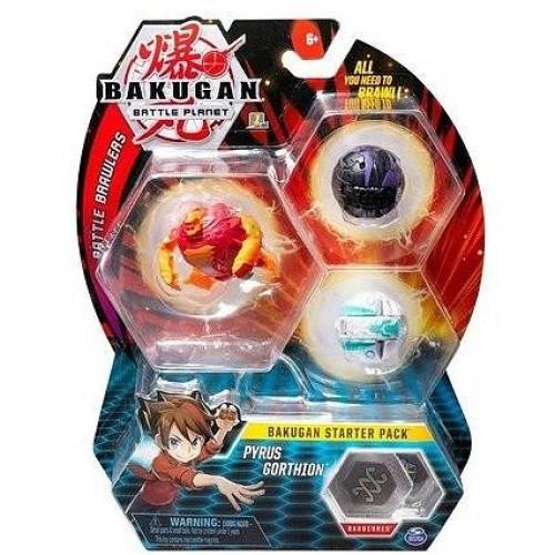 Spin Master Bakugan Battle Planet Battle Brawlers: Bakugan Starter Pack - Pyrus Gorthion (20108789)