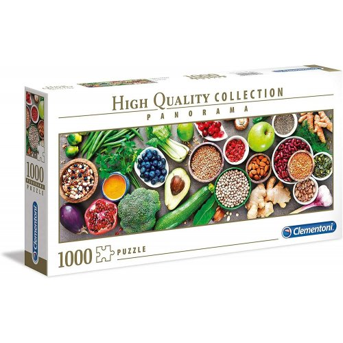 AS Clementoni Puzzle - High Quality Collection Panorama - Healthy Veggie (1000pcs) (1220-39518)