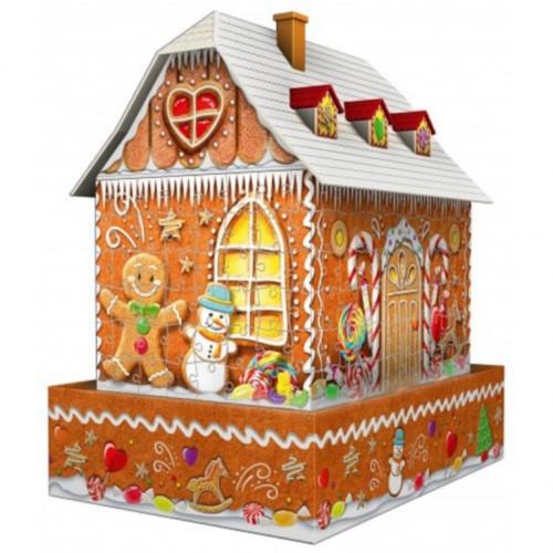 Ravensburger 3D Puzzle Midi: Gingerbread House Night Edition (216pcs) (11237)