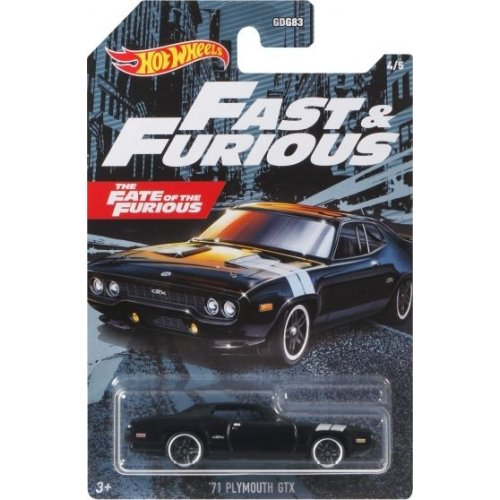 Mattel Hot Wheels Fast & Furious: The Fate of the Furious - '71 Plymouth GTX Vehicle (GRP57)