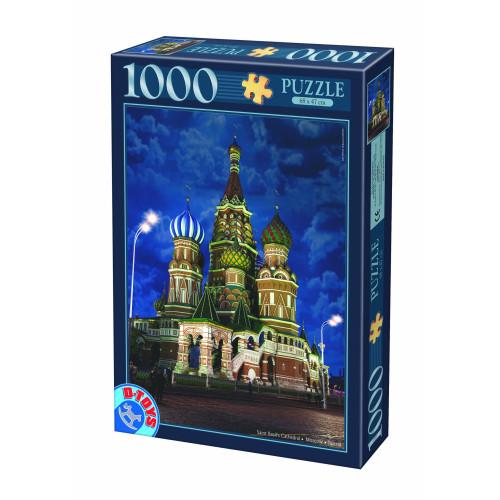 1000 ΤΜΧ  64301NL10  Night Landscapes-Saint Basil's Cathedral, Russia