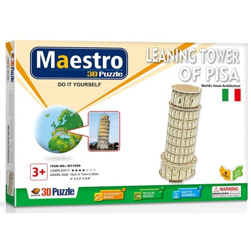 3D ΠΑΖΛ Leaning Tower of Pisa 21ΤΜΧ MY1009