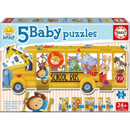 Παζλ 24 MONTHS ANIMALS SCHOOL BUS 17575