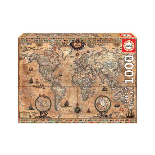 EDUCA 1000 ANTIQUE WORLD MAP 15159