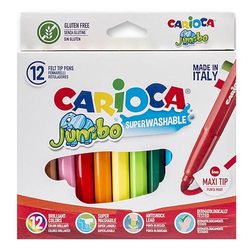 ΜΑΡΚΑΔΟΡΟΙ CARIOCA JUMBO 6mm ΣΕΤ=12 ΧΡΩΜΑΤΑ  Carioca 40569