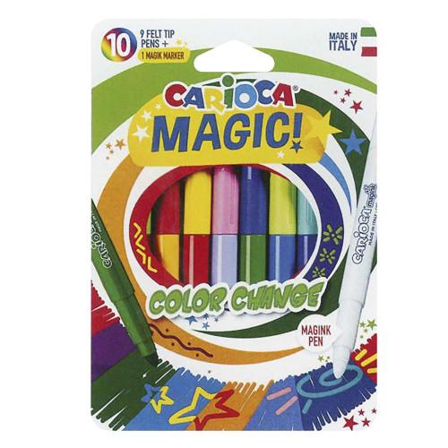 ΜΑΡΚΑΔΟΡΟΣ CARIOCA MAGIC ΣΕΤ=10 ΧΡΩΜATA  Carioca 42737